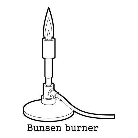 Bunsen burner icon outline