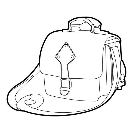 Postal bag icon outline Illustration