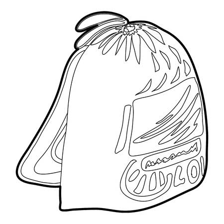 Sport backpack icon outline