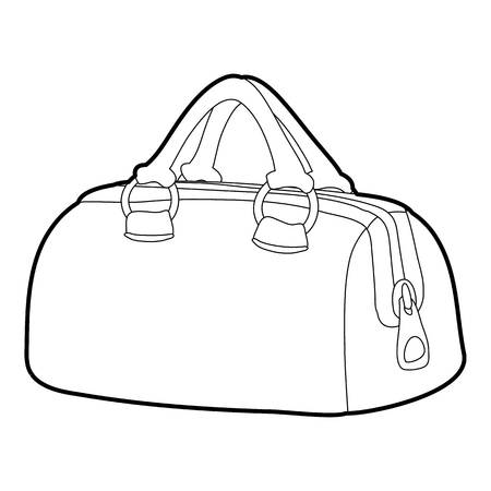 Sports bag icon outline Illustration