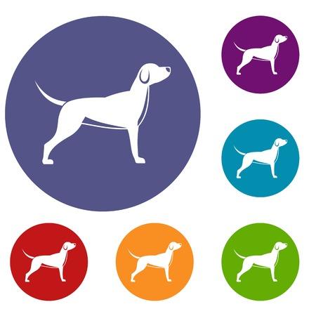 Icônes de chiens mis Banque d'images - 81694306