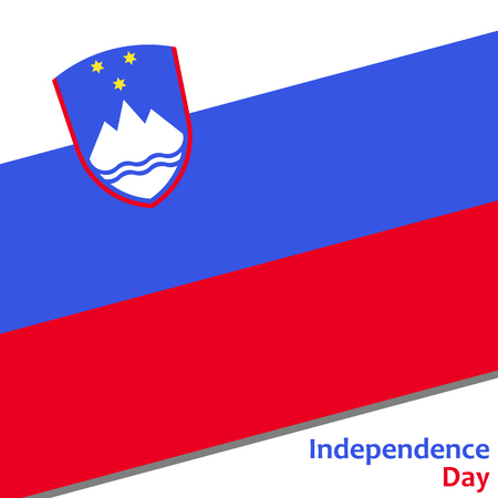 Slovenia independence day with flag vector illustration for web