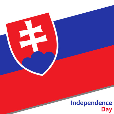 Slovakia independence day with flag vector illustration for web