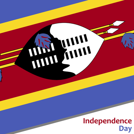 celebrities: Swaziland independence day with flag vector illustration for web