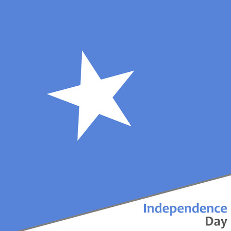Somalia independence day with flag vector illustration for web Illustration
