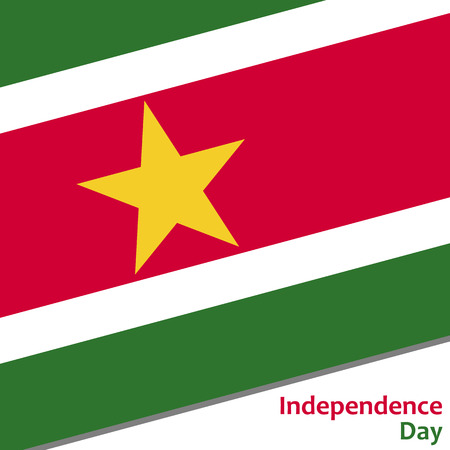 celebrities: Surinam independence day with flag vector illustration for web Illustration