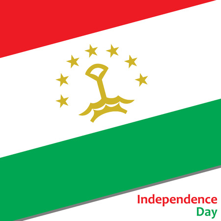 celebrities: Tajikistan independence day with flag vector illustration for web Illustration
