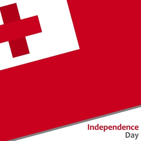 Tonga independence day with flag vector illustration for web Illustration