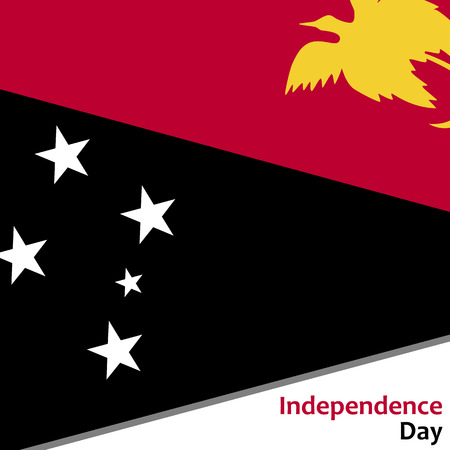 Papua New Guinea independence day with flag vector illustration for web Illustration