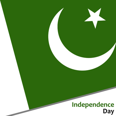 fourteen: Pakistan independence day with flag vector illustration for web Illustration