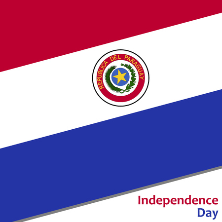 Paraguay independence day with flag vector illustration for web Illustration