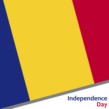 Romania independence day with flag vector illustration for web