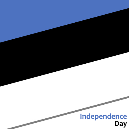 celebrities: Estonia independence day with flag vector illustration for web