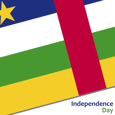 celebrities: Central African Republic independence day with flag vector illustration for web