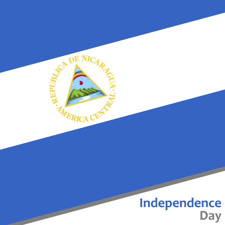 celebrities: Nicaragua independence day with flag vector illustration for web
