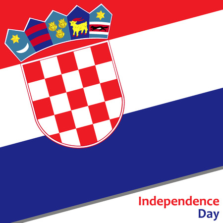 Croatia independence day with flag vector illustration for web
