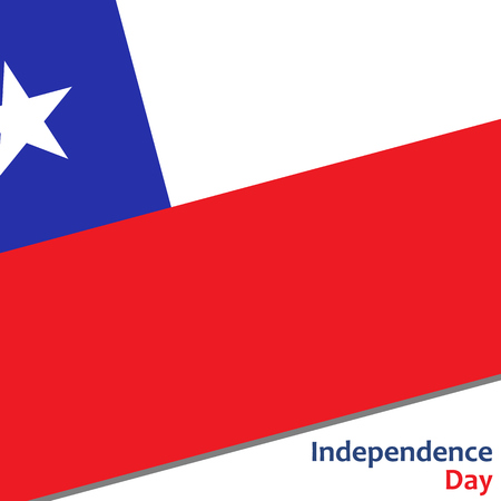 celebrities: Chile independence day with flag vector illustration for web Illustration