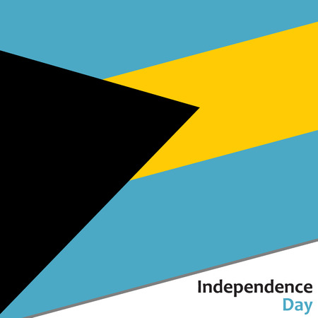 Bahamas independence day with flag vector illustration for web