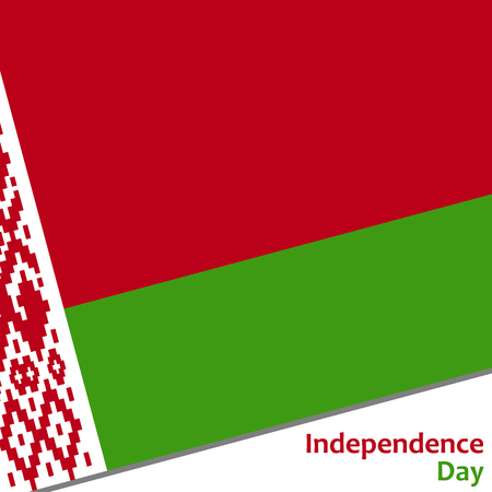 Belarus independence day with flag vector illustration for web