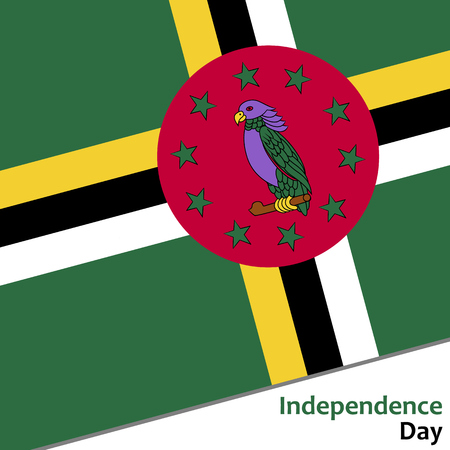 Dominica independence day with flag vector illustration for web
