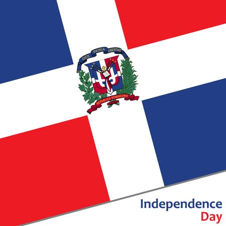 Dominicaanse Republiek onafhankelijkheidsdag met vlag vector illustratie voor web