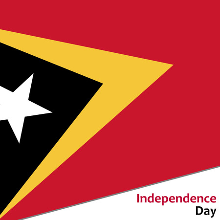 timor: East Timor independence day with flag vector illustration for web
