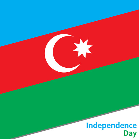 Azerbaijan independence day with flag vector illustration for web