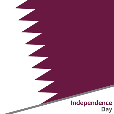 Qatar independence day with flag vector illustration for web