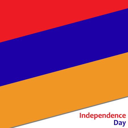 Armenia independence day with flag vector illustration for web