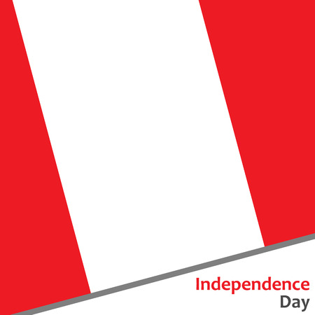 celebrities: Peru independence day with flag vector illustration for web Illustration