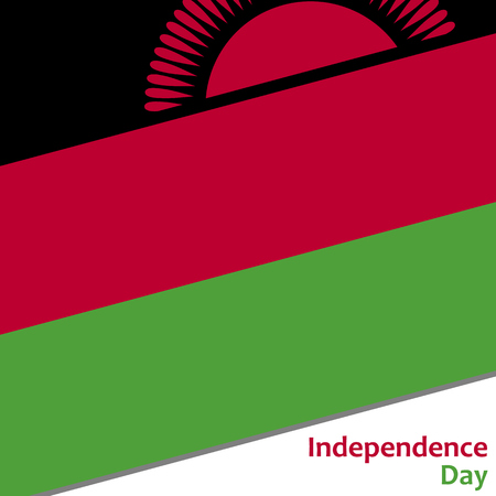 Malawi independence day with flag vector illustration for web Illustration
