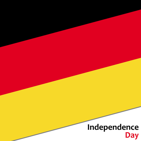 Deutschland independence day with flag vector illustration for web Illustration