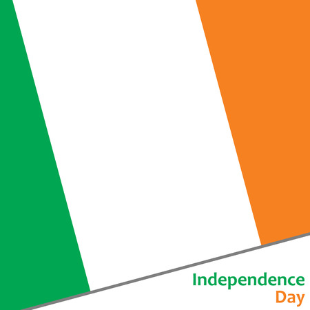 celebrities: Ireland independence day with flag vector illustration for web