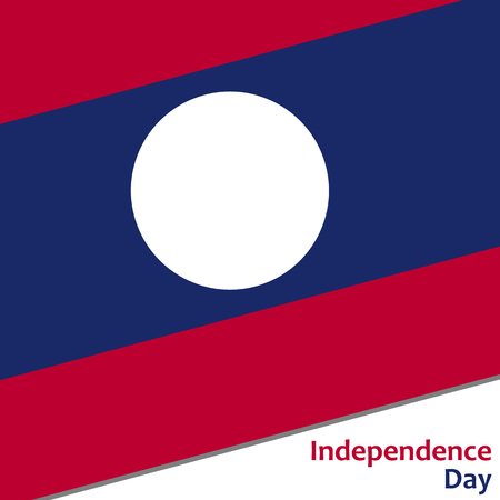 celebrities: Laos independence day with flag vector illustration for web