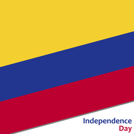 celebrities: Colombia independence day with flag vector illustration for web Illustration