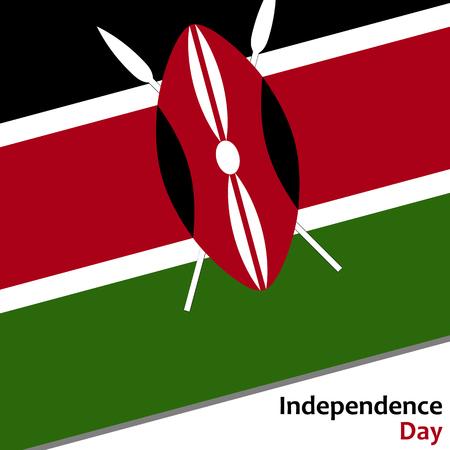 celebrities: Kenya independence day with flag vector illustration for web Illustration