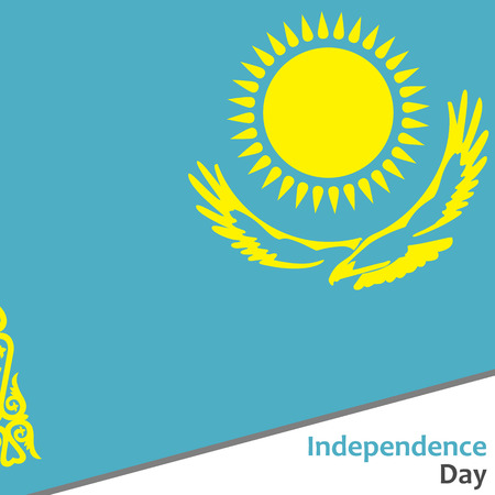 Kazakhstan independence day with flag vector illustration for web