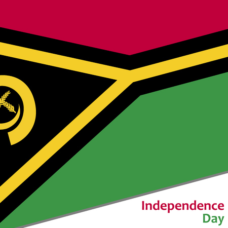 Vanuatu independence day with flag vector illustration for web