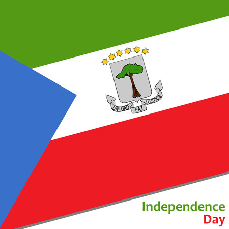 Equatorial Guinea independence day with flag vector illustration for web Illustration