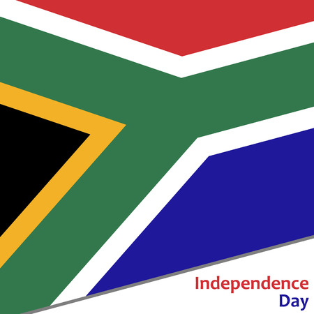 South Africa independence day with flag vector illustration for web