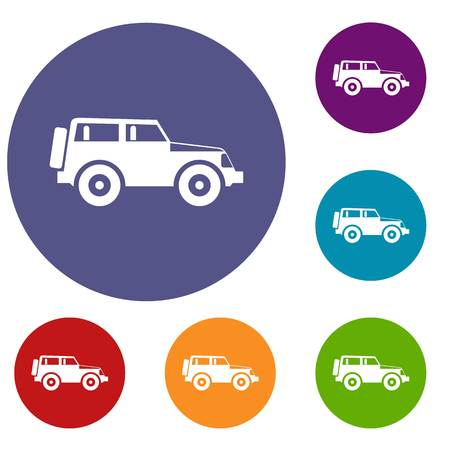 Jeep icons set