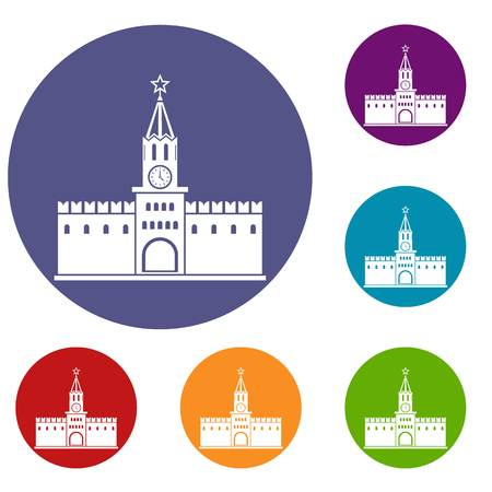 spasskaya: Russian kremlin icons set