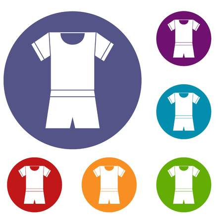 Sport shirt and shorts icons set