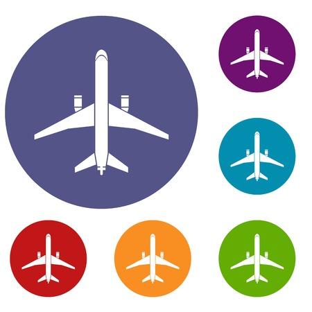 Plane icons set Иллюстрация