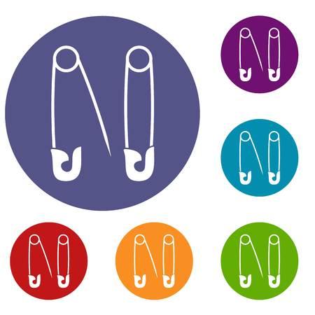 pierce: Pins icons set Illustration