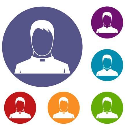 catholicism: Priest icons set