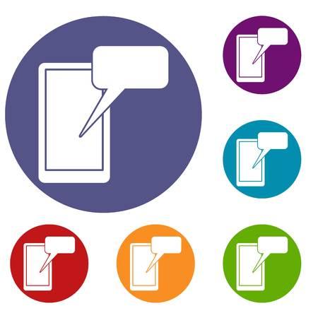 Mobile chatting icons set