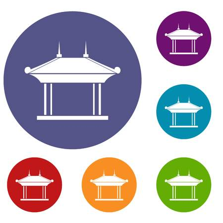 patio set: Pagoda icons set