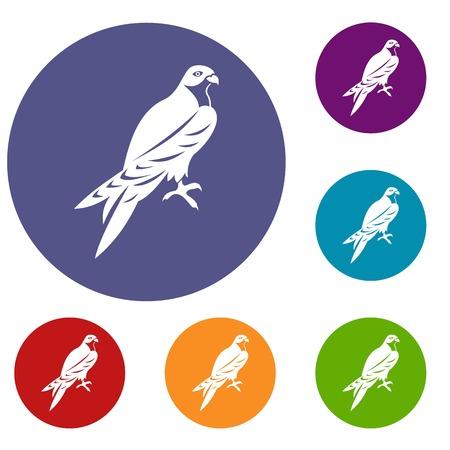 Falcon pictogrammen ingesteld