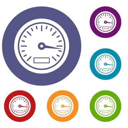 scale: Speedometer icons set
